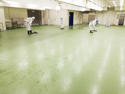 愛知県豊田市で 食品加工工場の引き渡し清掃、引き渡し除菌