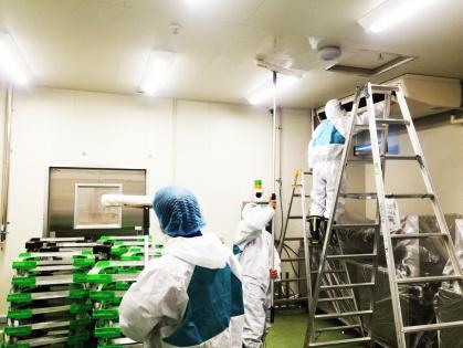 豊田市にて食品加工工場の引き渡し清掃、引き渡し除菌