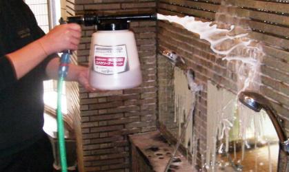 豊田市において浴場洗浄システム施工
