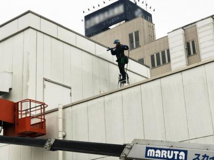 愛知県豊田市での外壁清掃(整形外科病院)