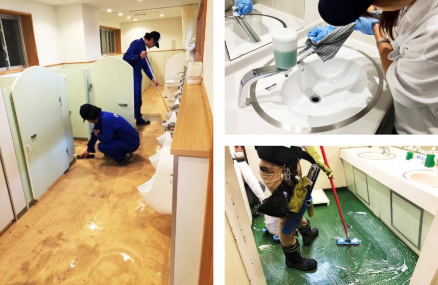 豊田市のこども園のトイレ清掃